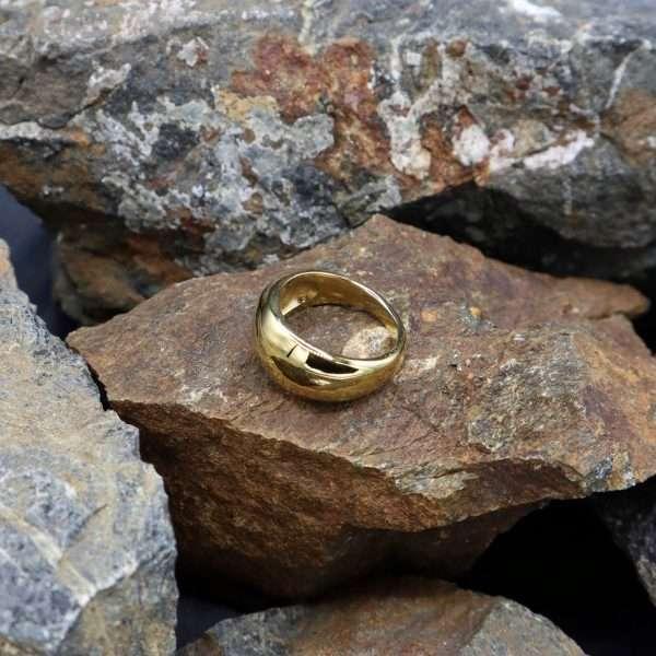 inel statement cassandra placat cu aur