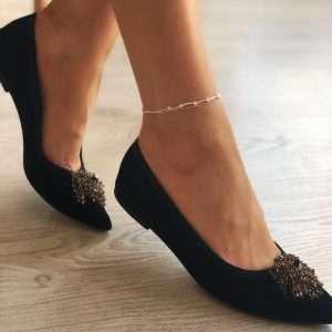 bratara picior din argint cu stellute