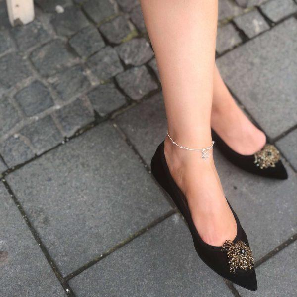bratara picior stea din argint