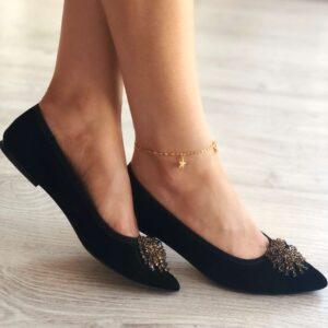 bratara picior stea de mare placata cu aur