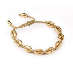 bratara scoici aurii placata cu aur 14 K
