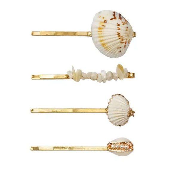 agrafe par cu scoici naturale si perle sidef