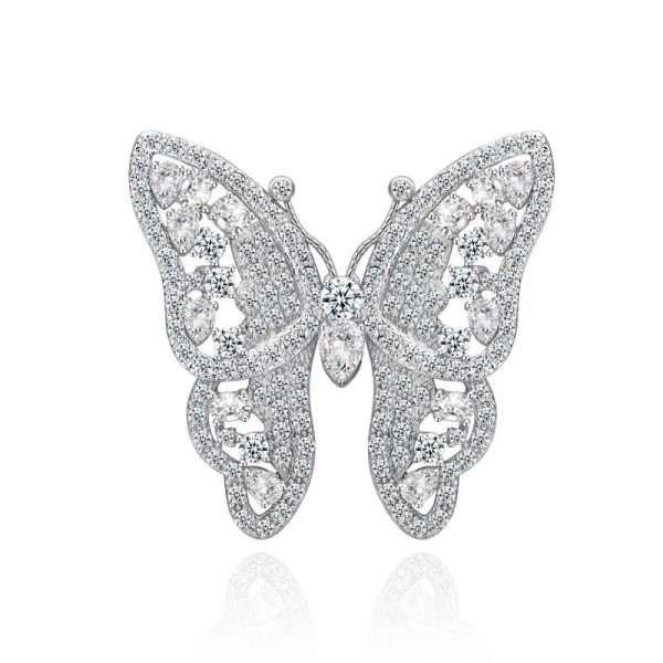 brosa fluture cu zirconii