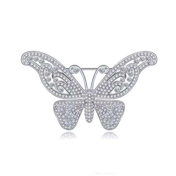 brosa fluture impodobita cu cristale