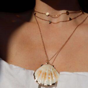 colier cu scoica si perla naturala