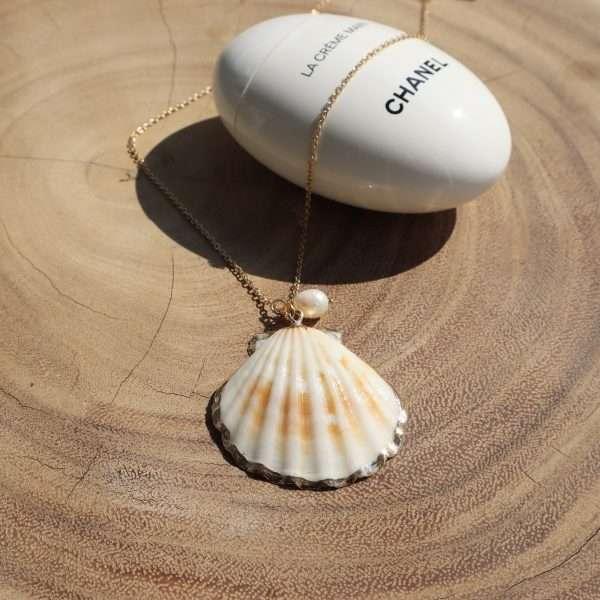 colier scoica perla de apa dulce