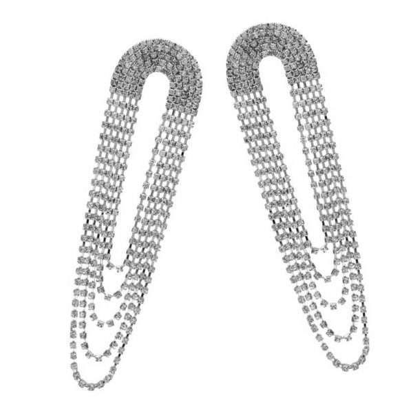 cercei eleganti lungi cu cristale