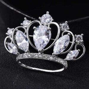 brosa coroana cu cristale cubic zirconia