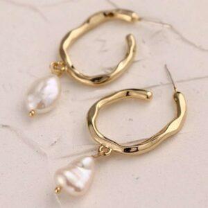 cercei cu perle baroc