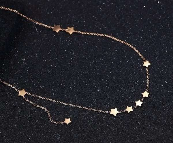 colier stelute rose gold Star