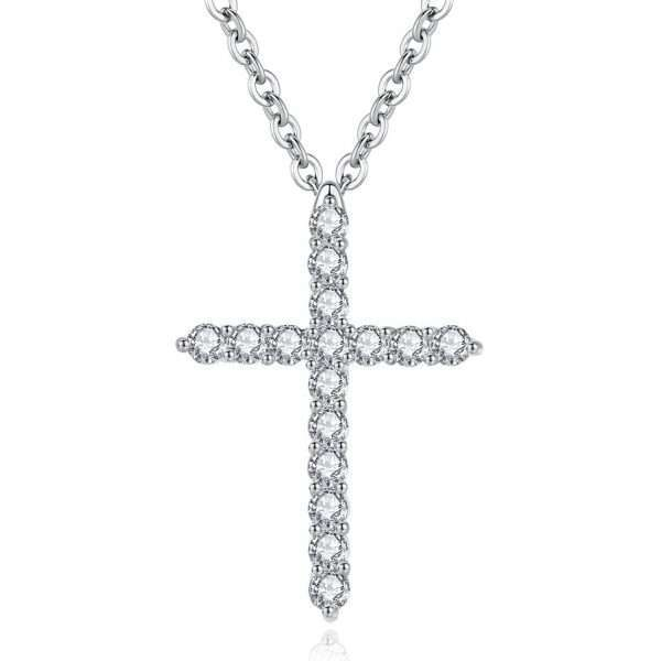 colier cruce pandantiv cristale cubic zirconia