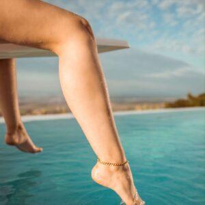 bratara de picior placata cu aur