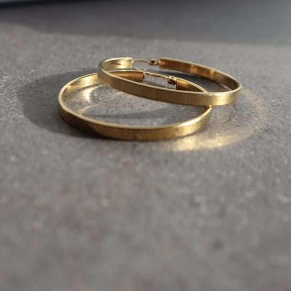 cercei rotunzi aurii placati cu aur 18K