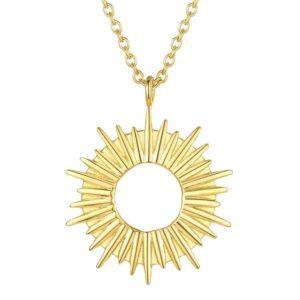 colier auriu placat cu aur 18K