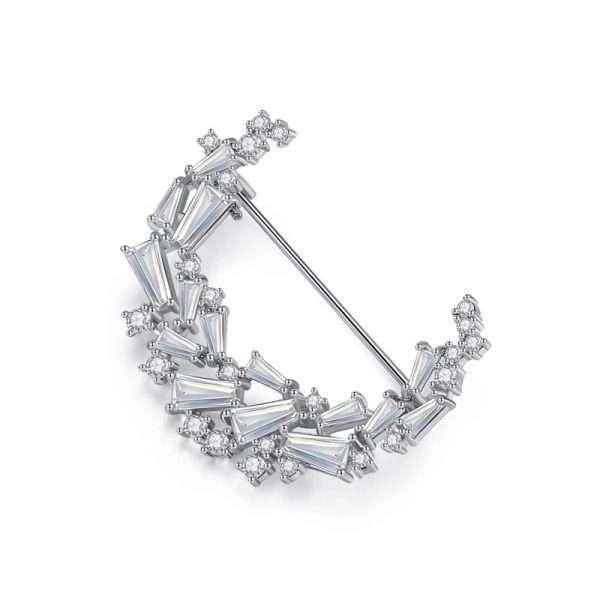 brosa semiluna cu cristale