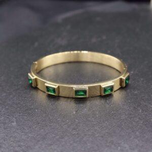 bratara fixa cristale de culoare verde