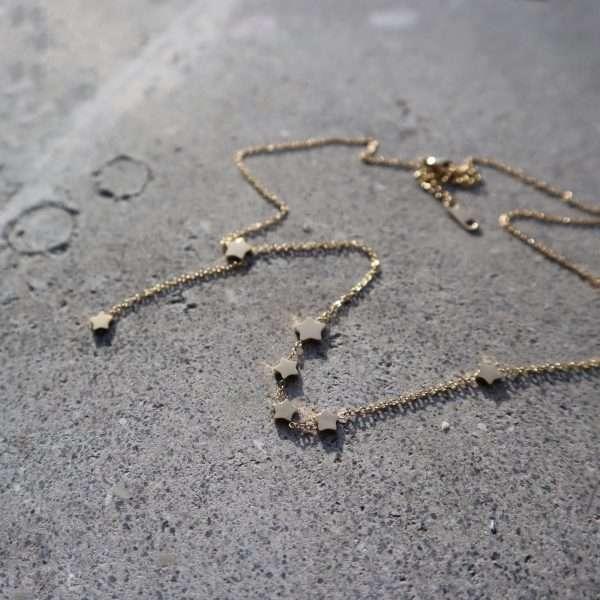 choker stelute placate cu aur 18K