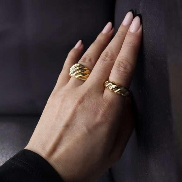 inel auriu texturat MOSSELLE
