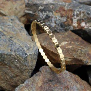 bratara fixa fagure placata cu aur 18K