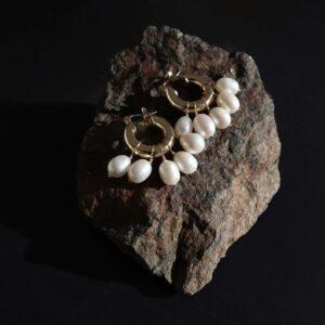 cercei creole cu perle