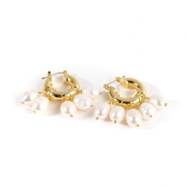 cercei creole perle naturale