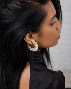 cercei rotunzi cu perle