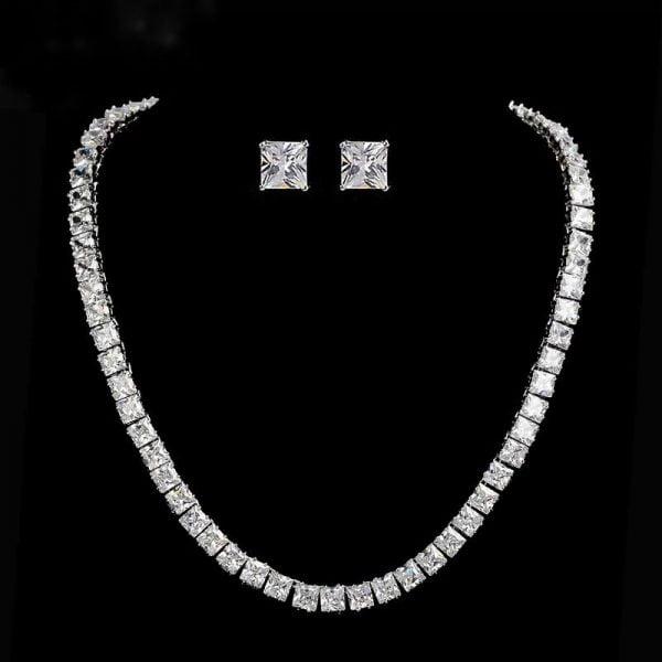 SET bijuterii tennis colier si cercei