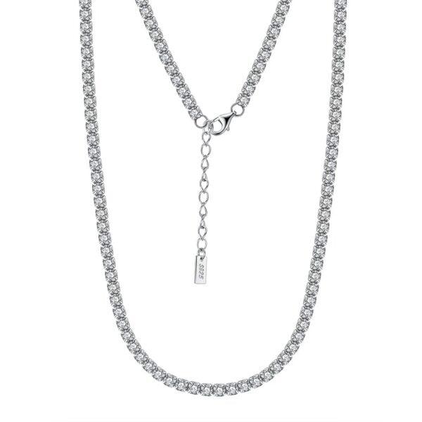 colier tennis argint 925 si cristale cz